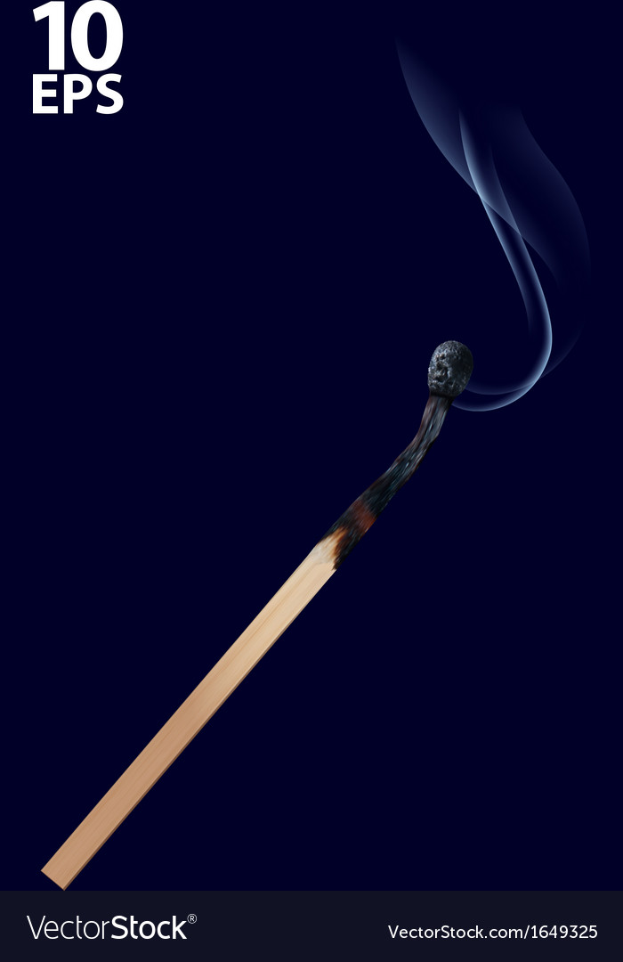 Burned match stick on dark vector | Price: 1 Credit (USD $1)