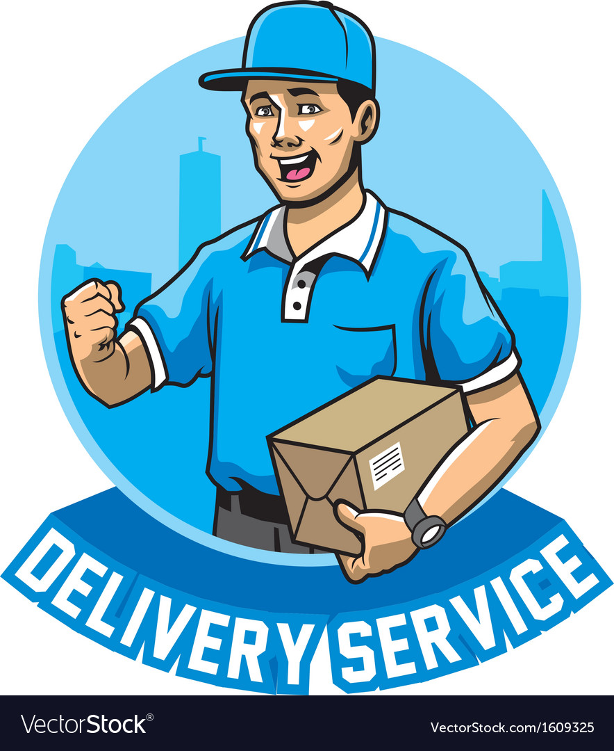 Courier man service vector | Price: 1 Credit (USD $1)