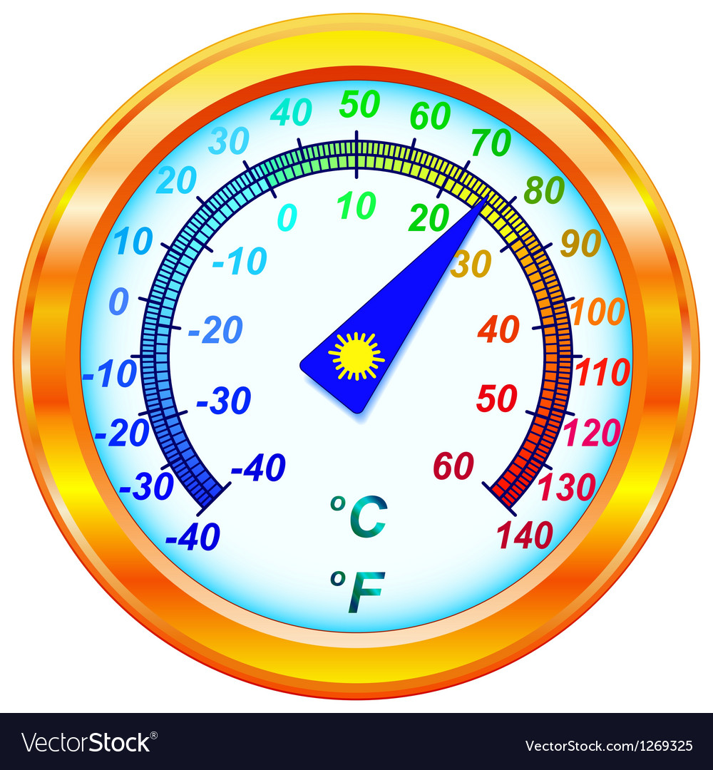 Dial thermometer vector | Price: 1 Credit (USD $1)