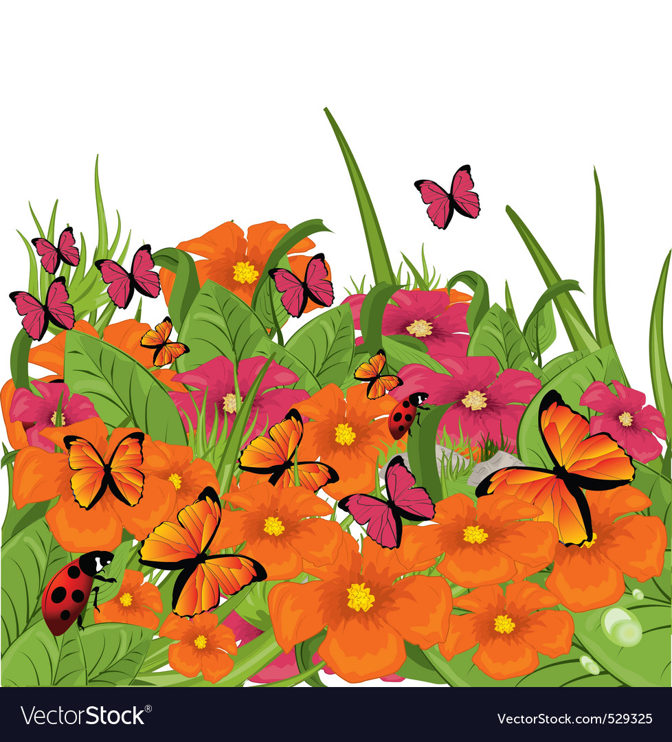 Garden season vector | Price: 1 Credit (USD $1)