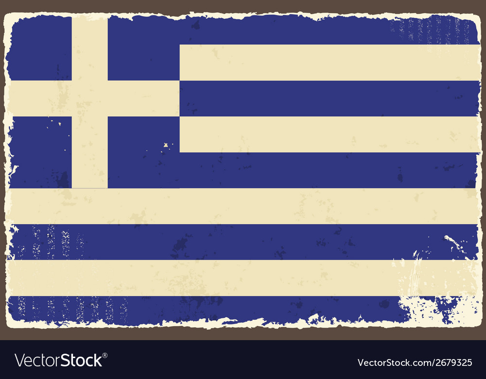 Greek grunge flag vector | Price: 1 Credit (USD $1)