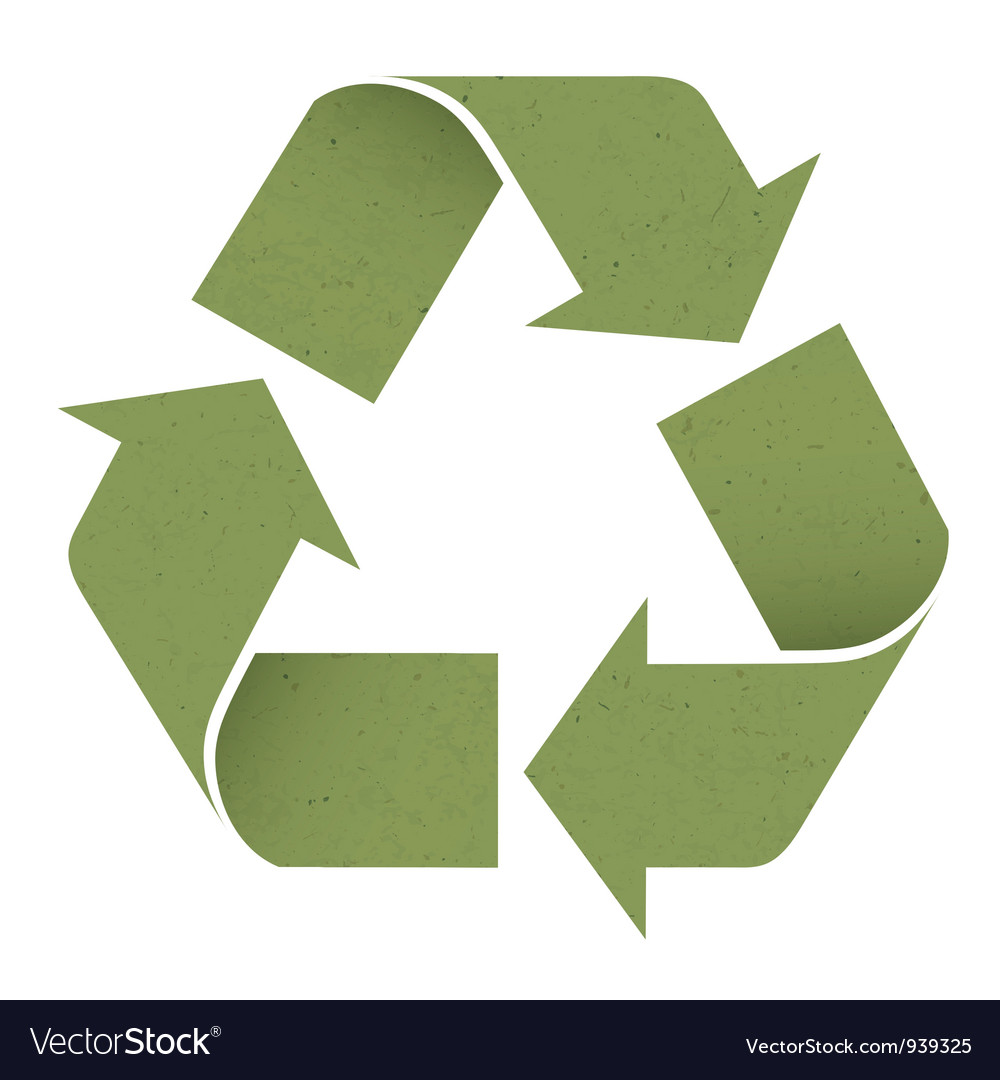 Green reuse symbol vector | Price: 1 Credit (USD $1)