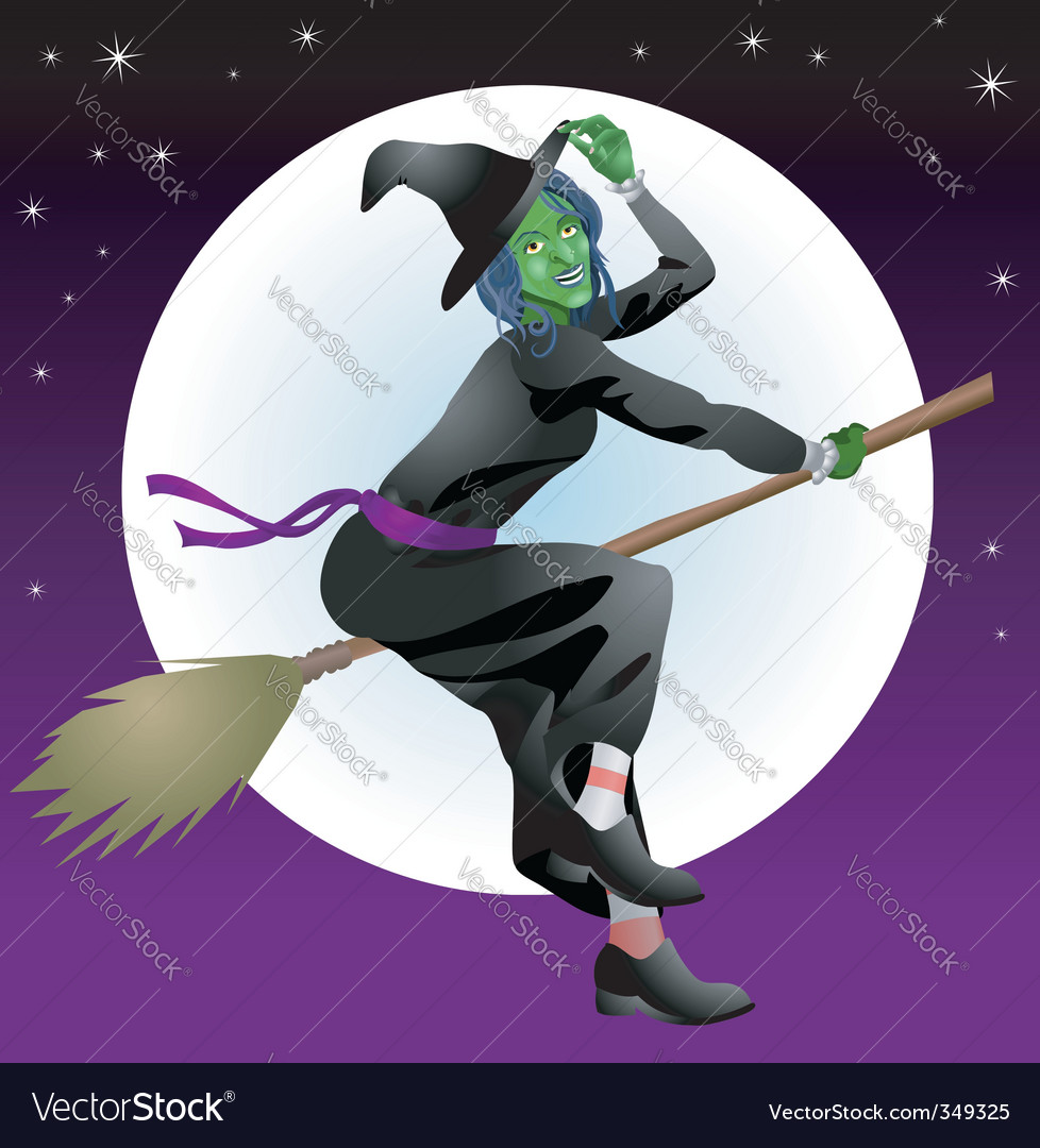 Halloween witch vector | Price: 3 Credit (USD $3)