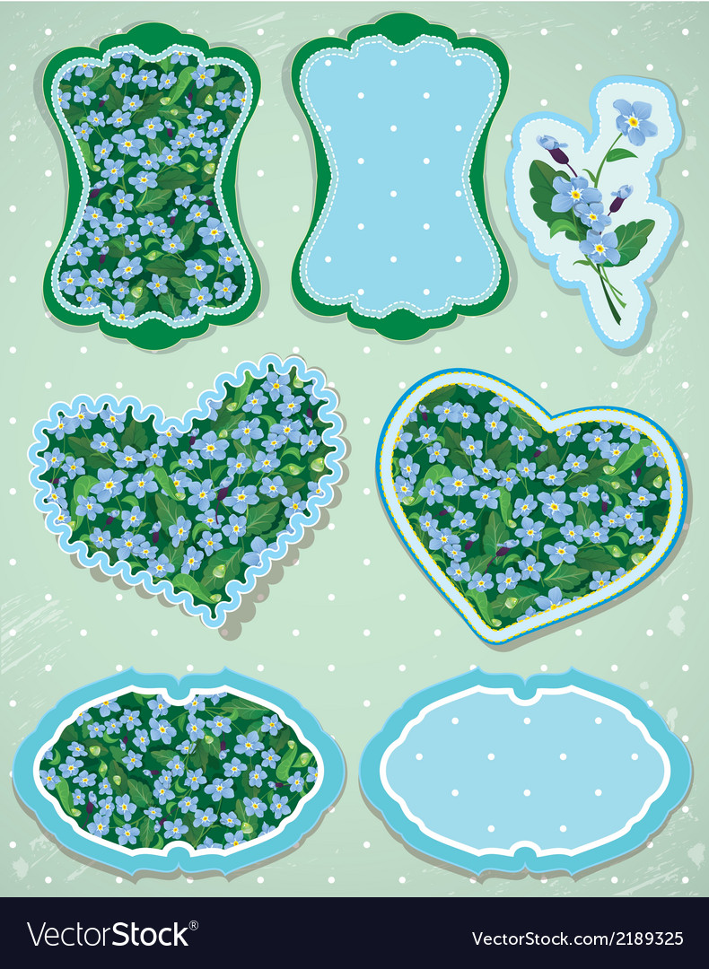 Set of labels and cards with pattern of beautiful vector | Price: 1 Credit (USD $1)