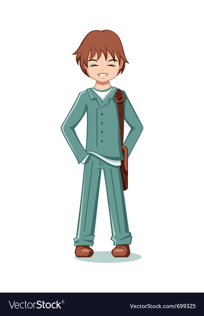 Teenage student vector | Price: 1 Credit (USD $1)