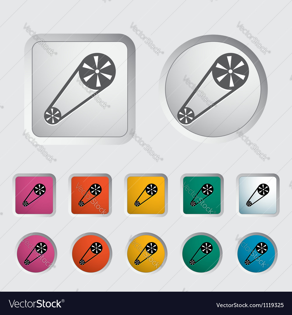 Timing belt icon vector | Price: 1 Credit (USD $1)