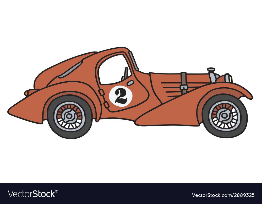 Vintage racing car vector | Price: 1 Credit (USD $1)
