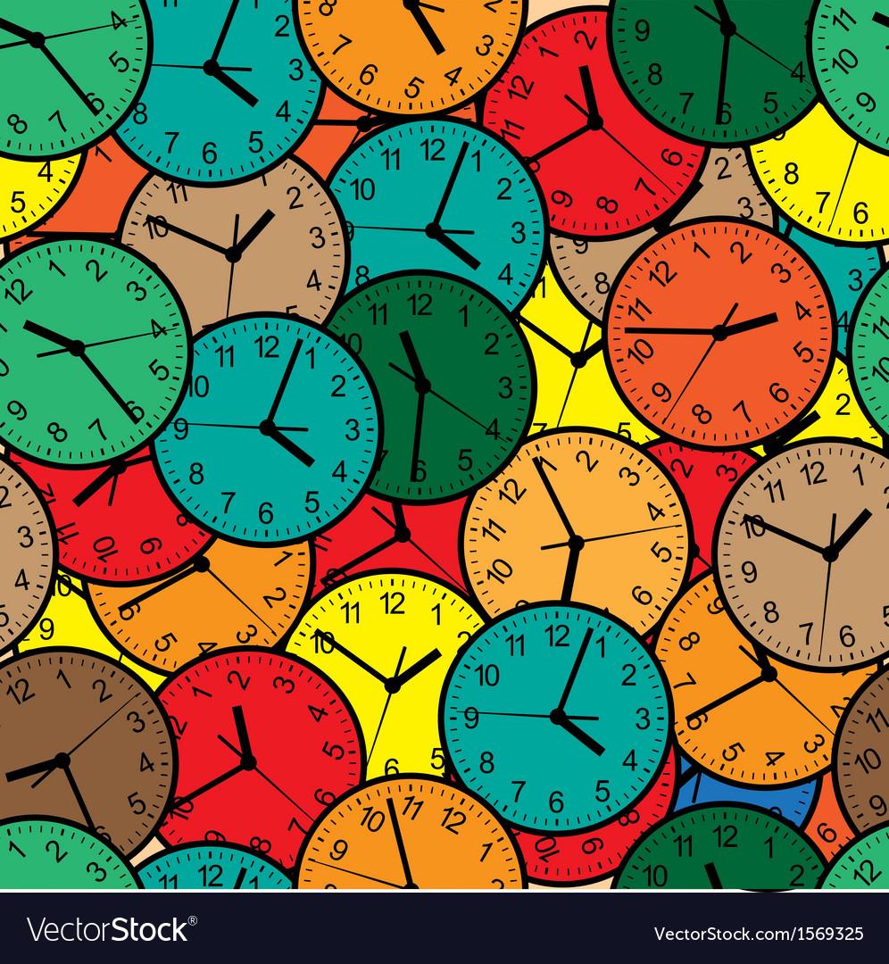 Wall clock seamless vector | Price: 1 Credit (USD $1)