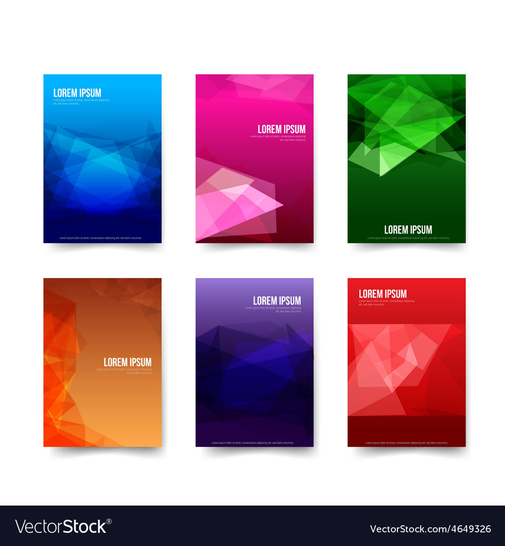 Abstract background set of simple colorful vector | Price: 1 Credit (USD $1)