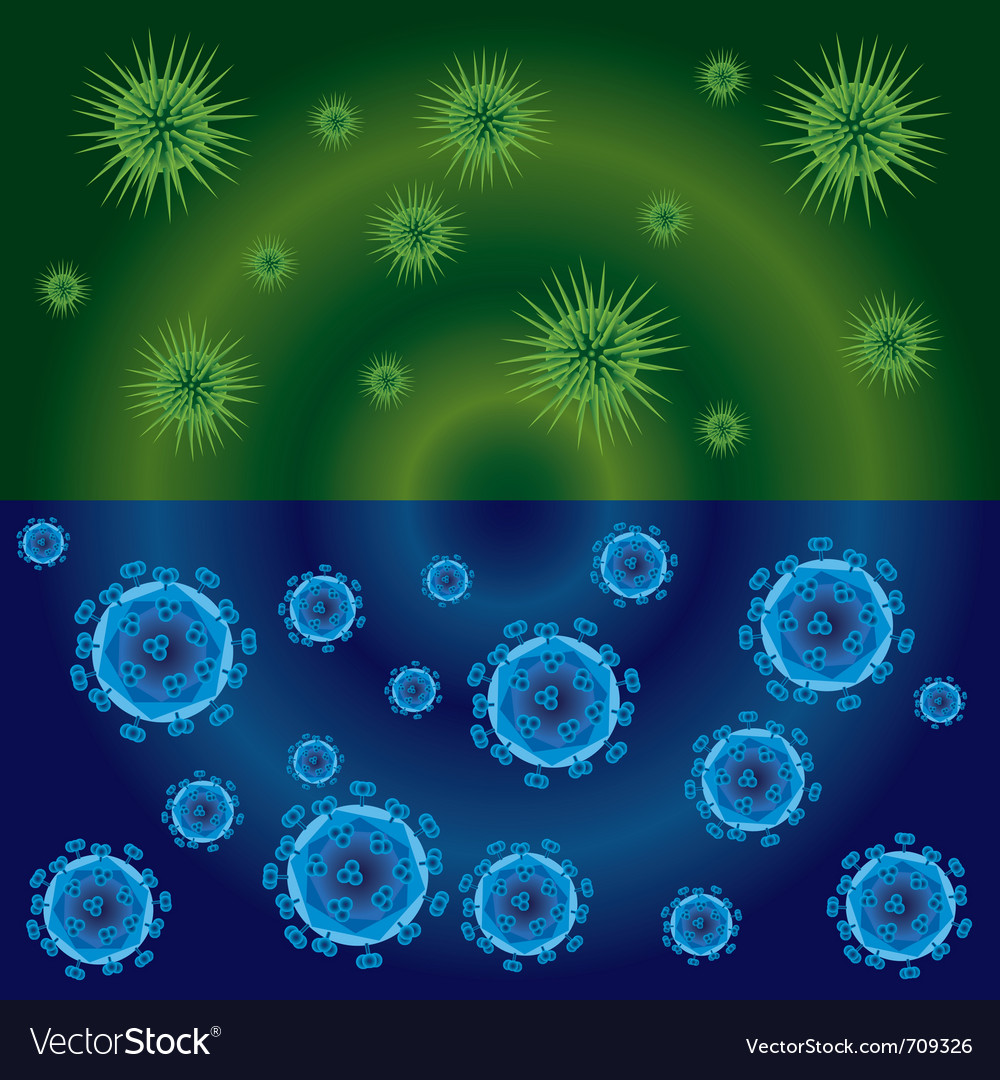 Bacteria background vector | Price: 1 Credit (USD $1)