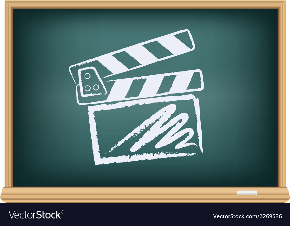 Board cinema clapper board vector | Price: 1 Credit (USD $1)
