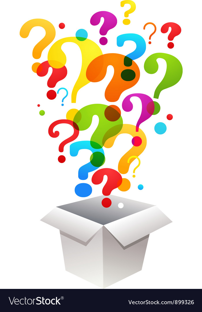 Box with question mark icons vector | Price: 1 Credit (USD $1)