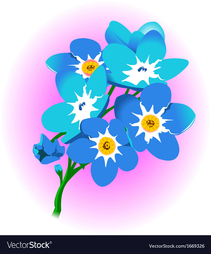 Flower floral nature pretty polen daisy rose vector | Price: 1 Credit (USD $1)