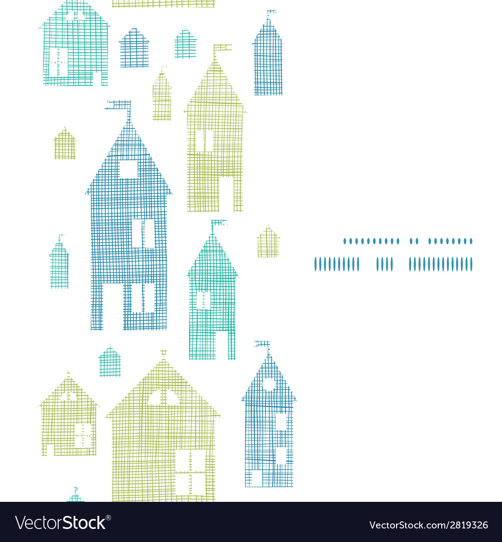 Houses blue green textile texture vertical vector | Price: 1 Credit (USD $1)