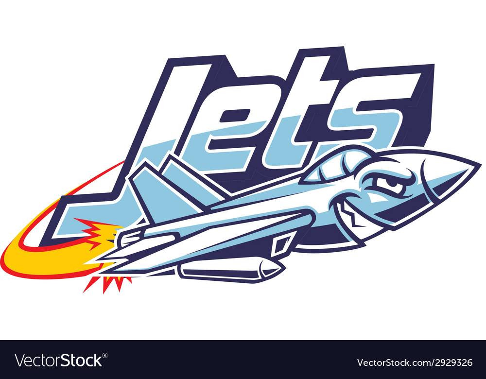 Jet plane mascot vector | Price: 3 Credit (USD $3)