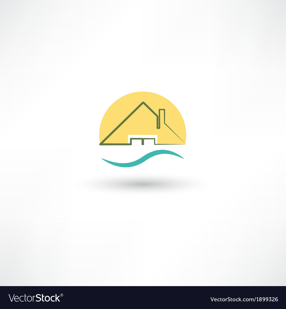 Line house vector | Price: 1 Credit (USD $1)