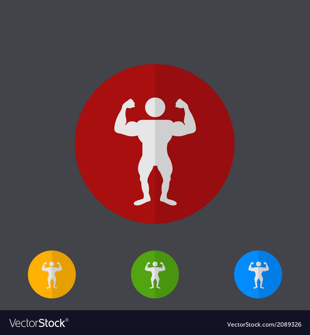 Modern circle icons set on gray vector | Price: 1 Credit (USD $1)