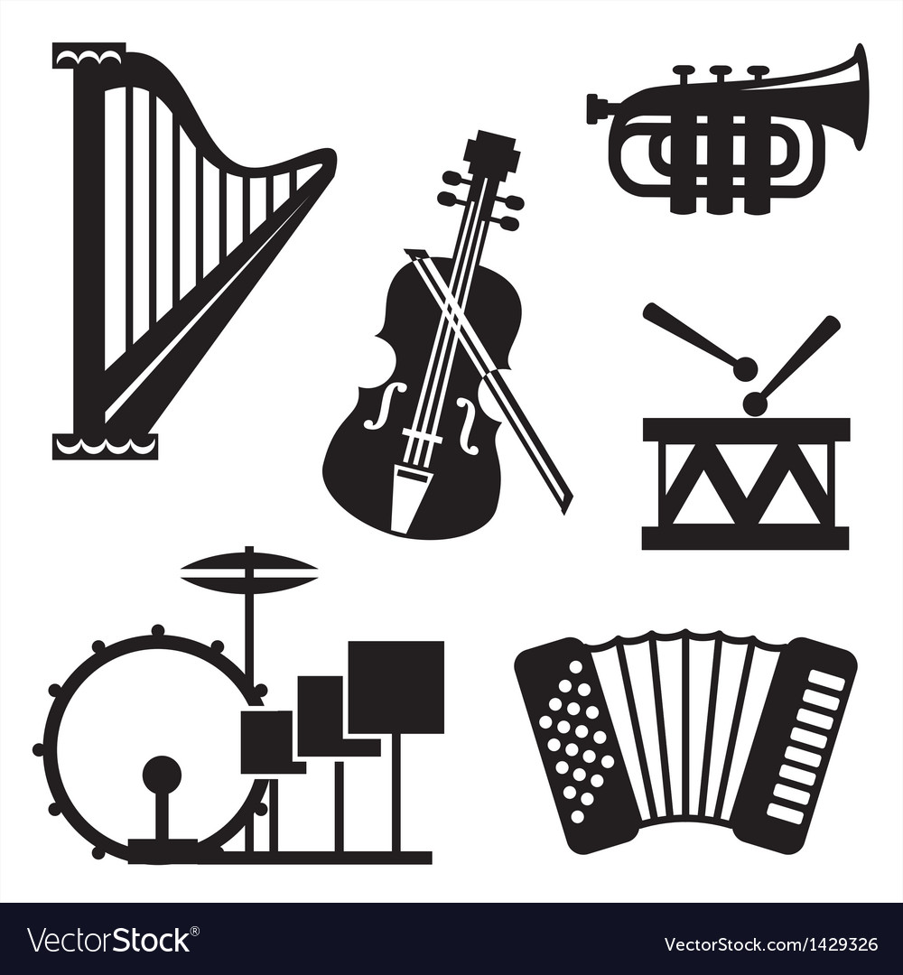Musical tools icons vector | Price: 1 Credit (USD $1)