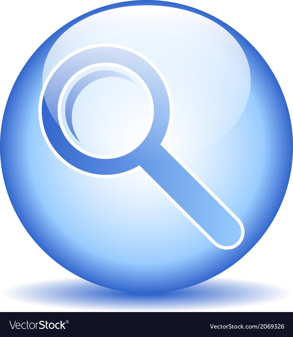 Search sign button vector | Price: 1 Credit (USD $1)