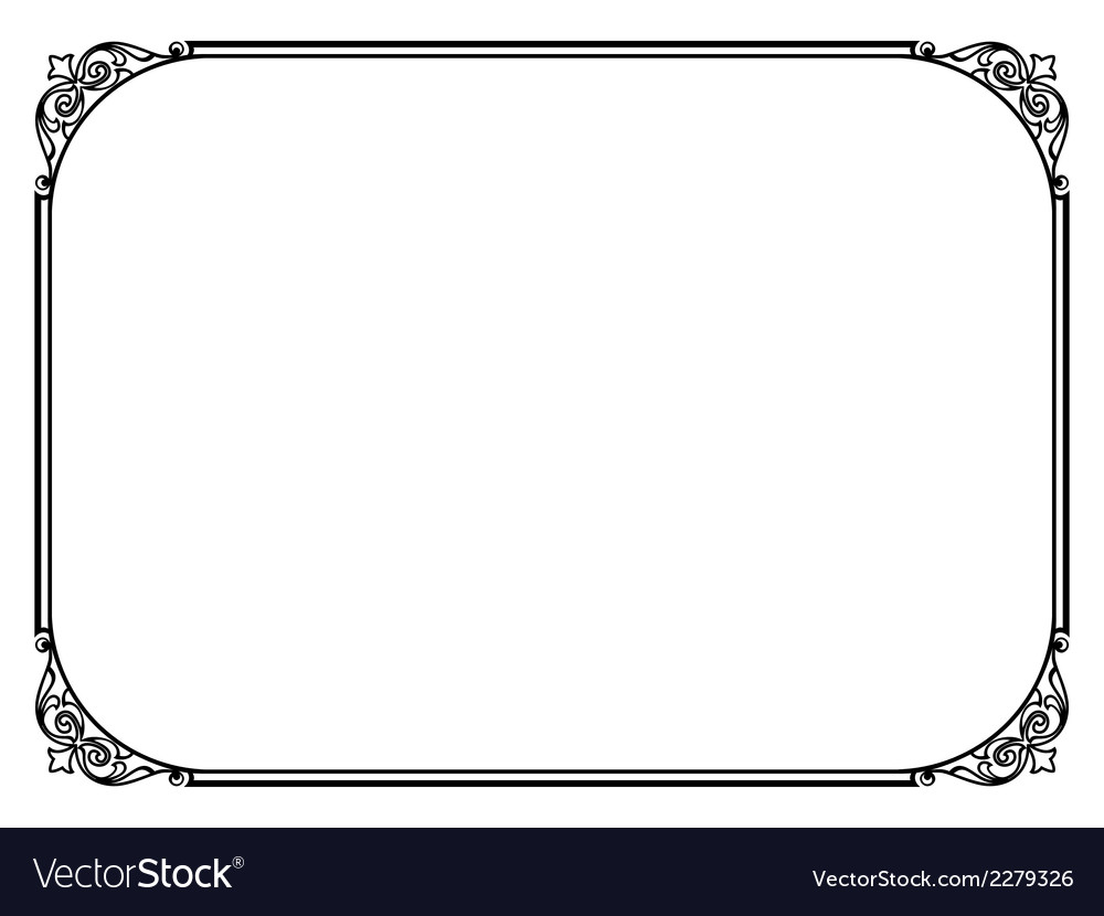 Simple black ornamental decorative frame vector | Price: 1 Credit (USD $1)