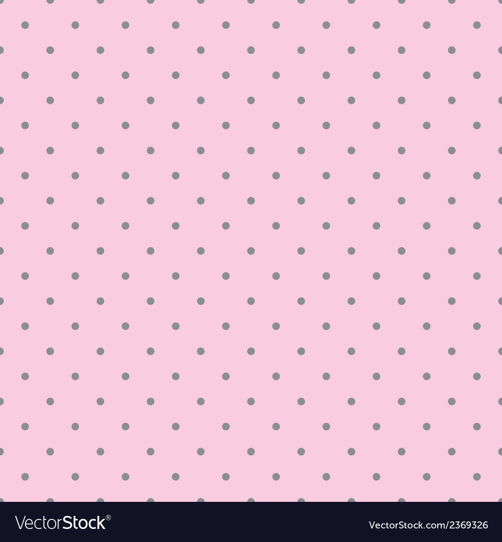 Tile pattern with grey polka dots pink background vector | Price: 1 Credit (USD $1)
