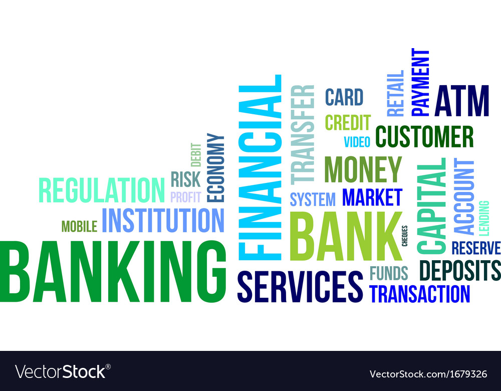 Word cloud banking vector | Price: 1 Credit (USD $1)
