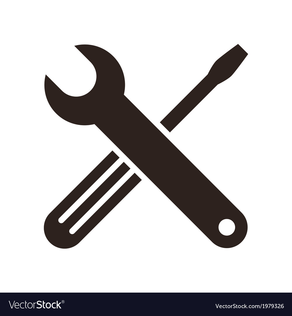 Wrench and screwdriver icon vector | Price: 1 Credit (USD $1)