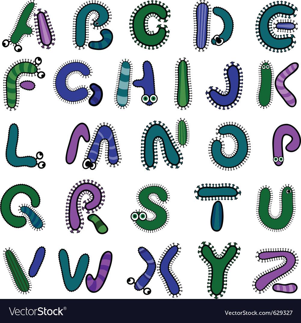 Bacterium alphabet vector | Price: 1 Credit (USD $1)