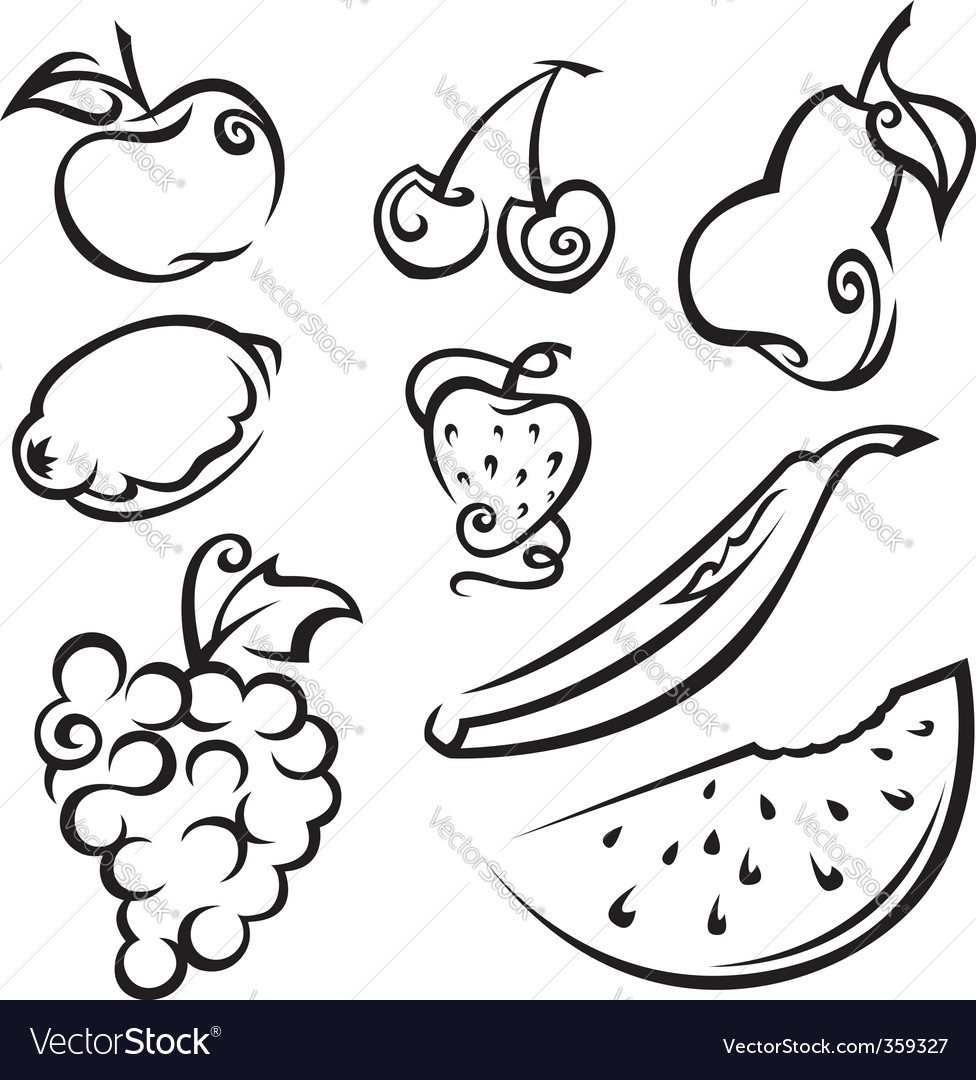Fruit and berries vector | Price: 1 Credit (USD $1)