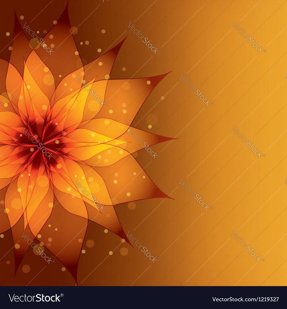 Golden background with decorative flower vector | Price: 1 Credit (USD $1)