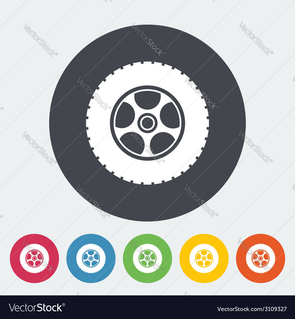 Icon car wheel vector | Price: 1 Credit (USD $1)
