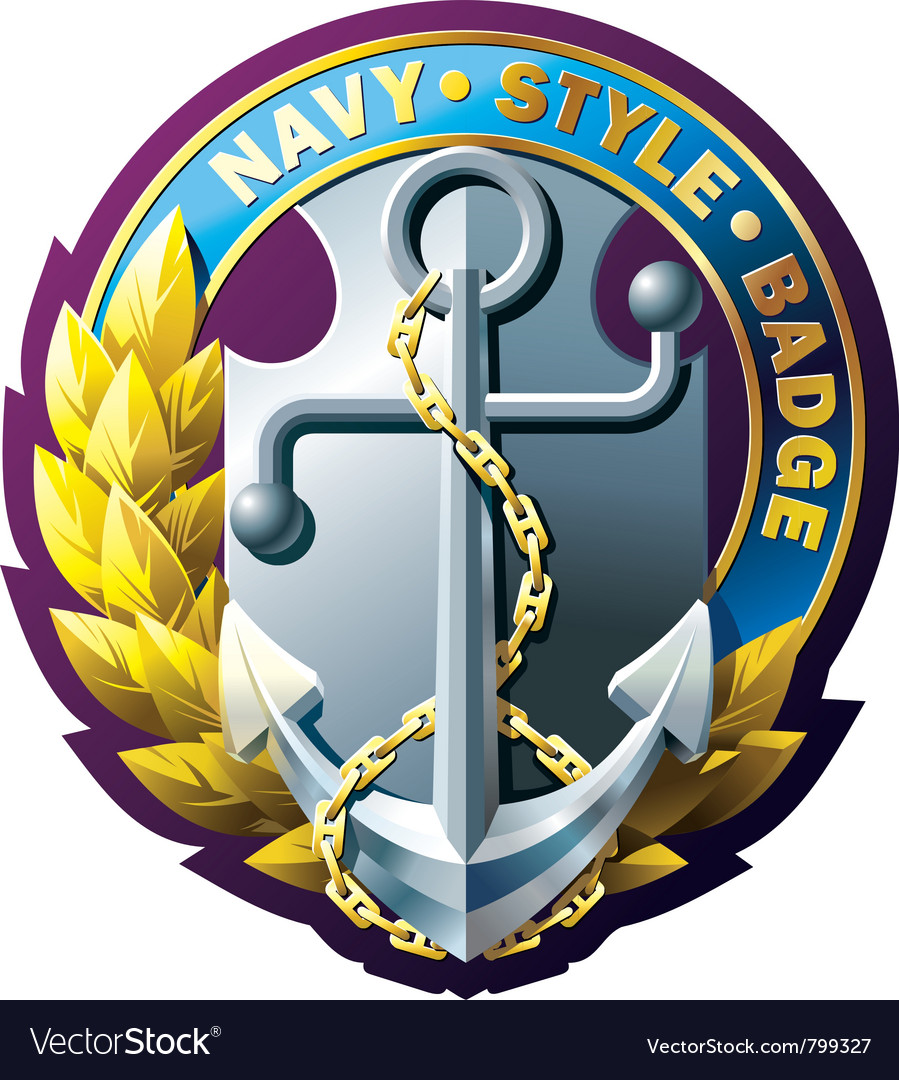 Marine style emblem vector | Price: 3 Credit (USD $3)