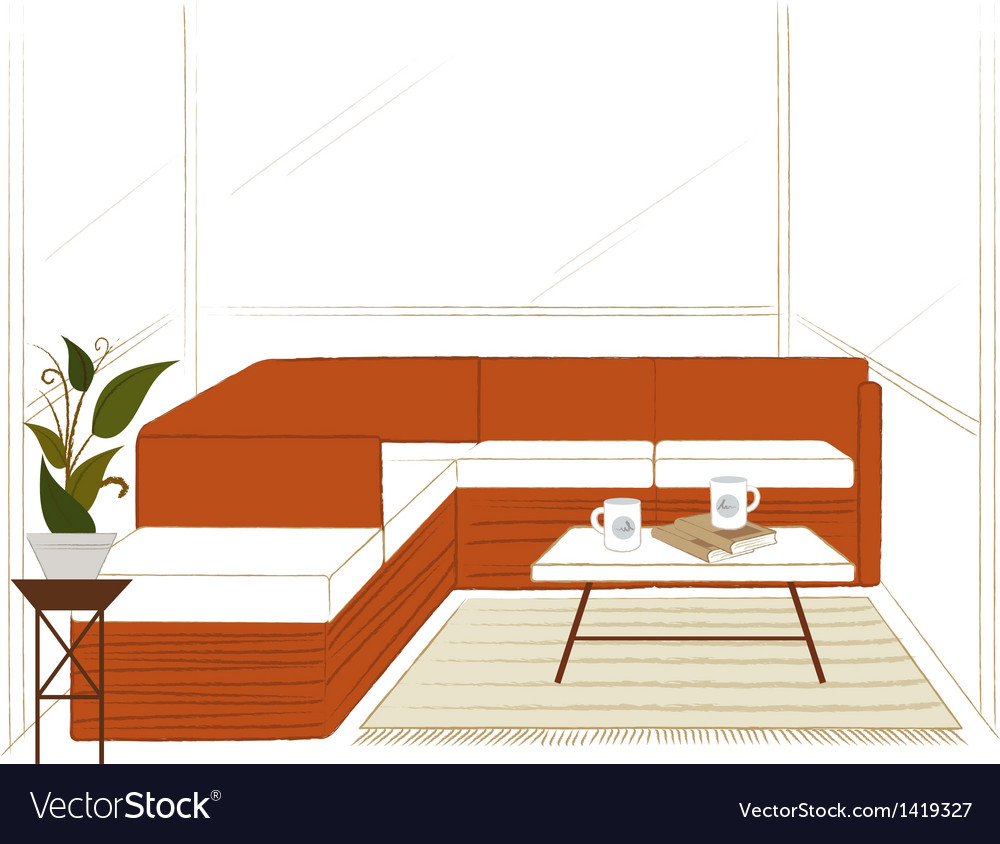 Modern home lounge vector | Price: 1 Credit (USD $1)