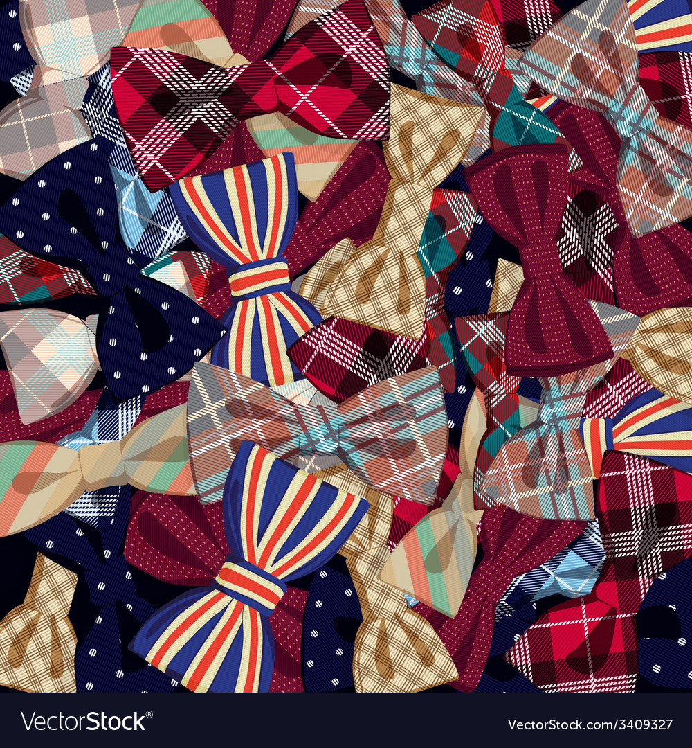 Pattern of bow-ties vector | Price: 1 Credit (USD $1)
