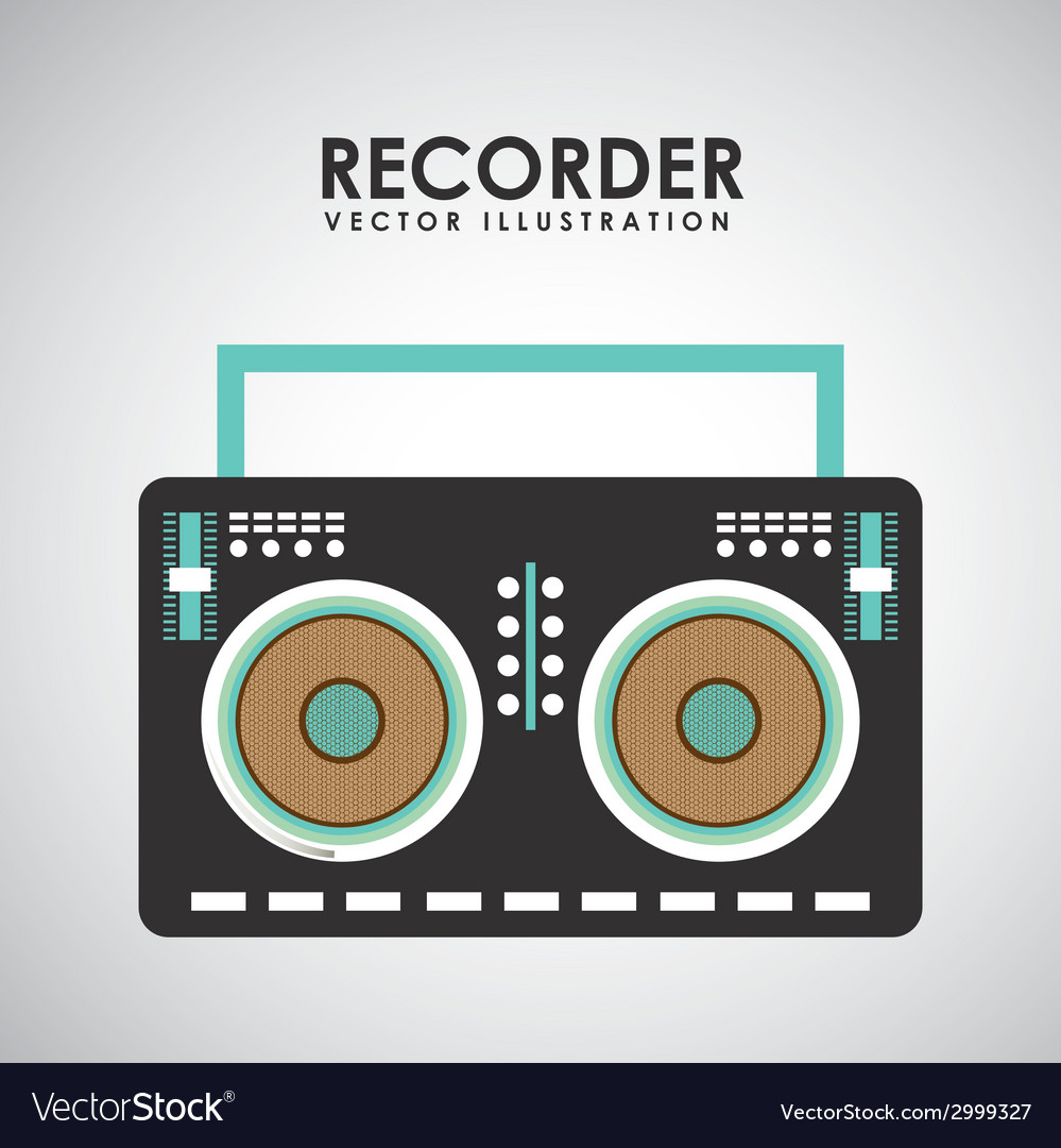 Recorder design vector | Price: 1 Credit (USD $1)