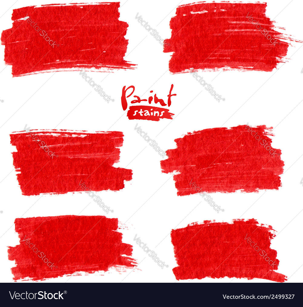 Red marker stains vector | Price: 1 Credit (USD $1)
