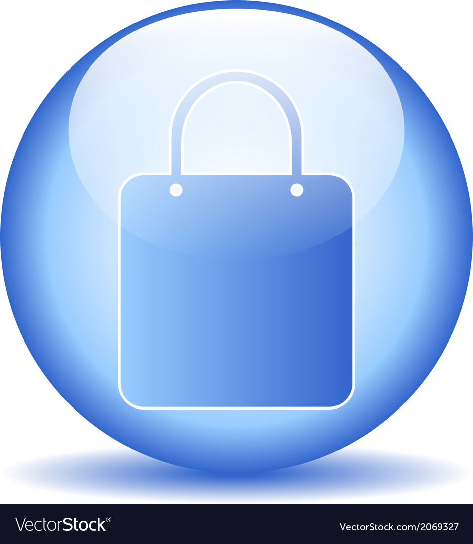 Shopping bag sign button vector   Price: 1 Credit (USD $1)