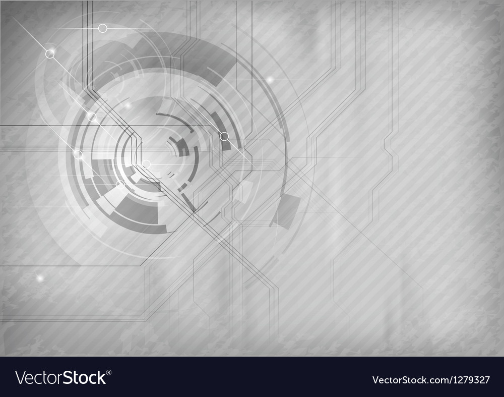 Tech background grey vector | Price: 1 Credit (USD $1)