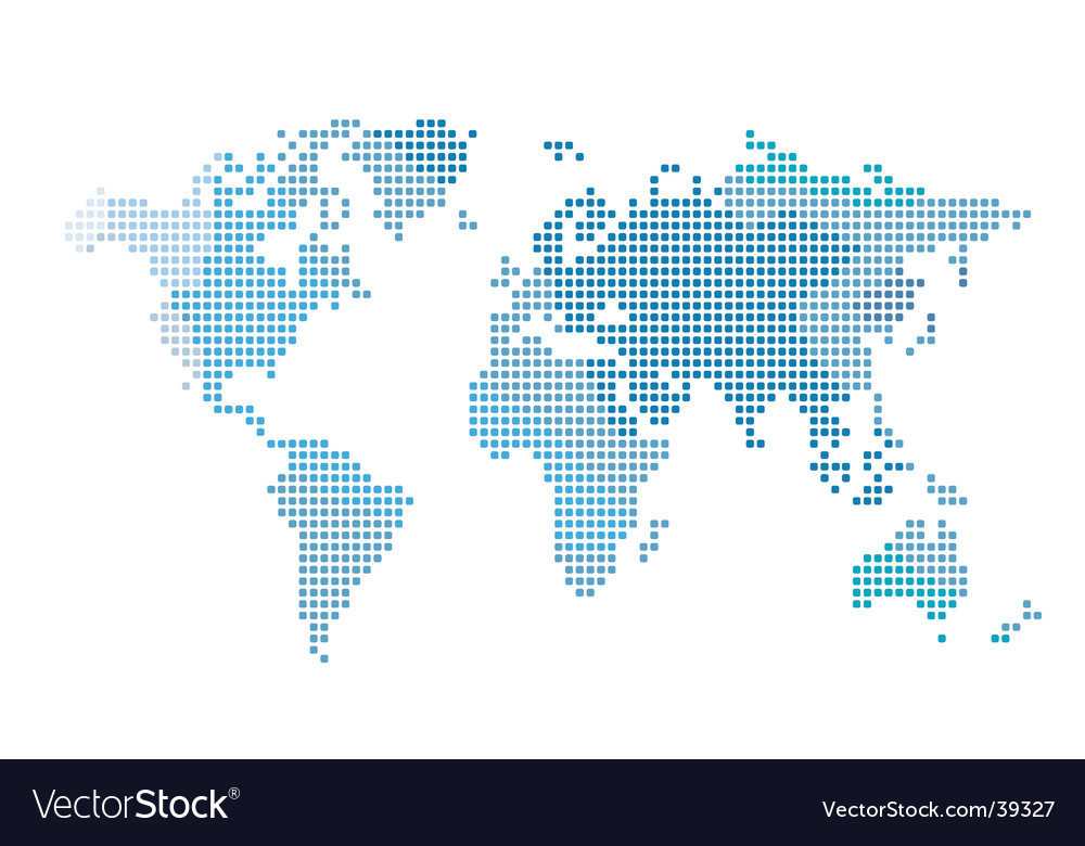 World map vector | Price: 1 Credit (USD $1)