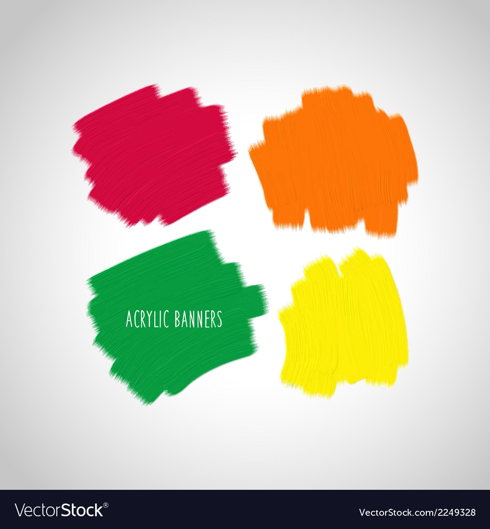Acrylic design elements vector | Price: 1 Credit (USD $1)