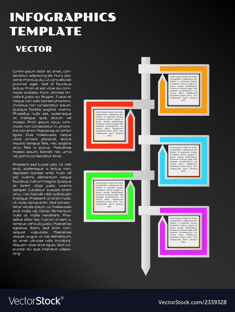 Black infographics with arrows vector | Price: 1 Credit (USD $1)