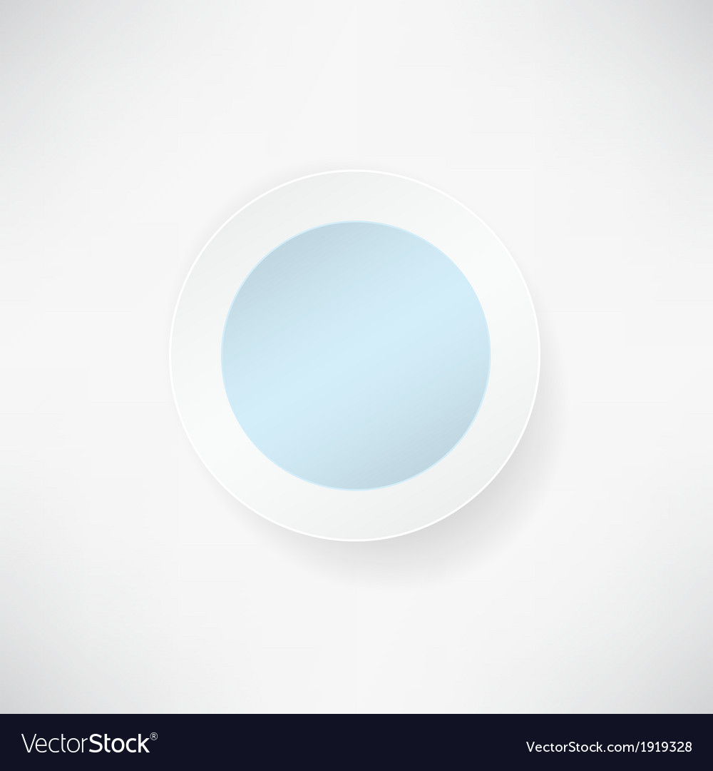 Blue paper round over white backgrounds vector | Price: 1 Credit (USD $1)