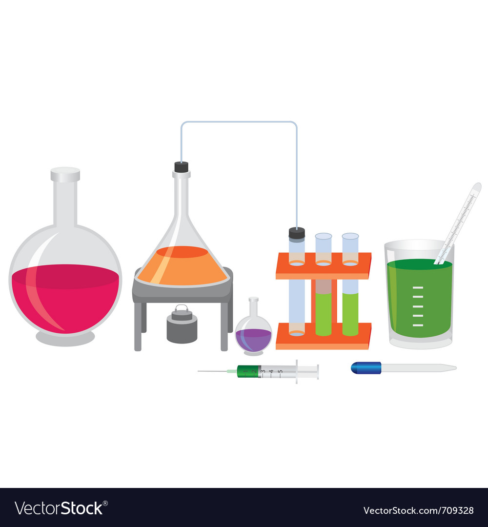 Chemical experiment vector | Price: 3 Credit (USD $3)