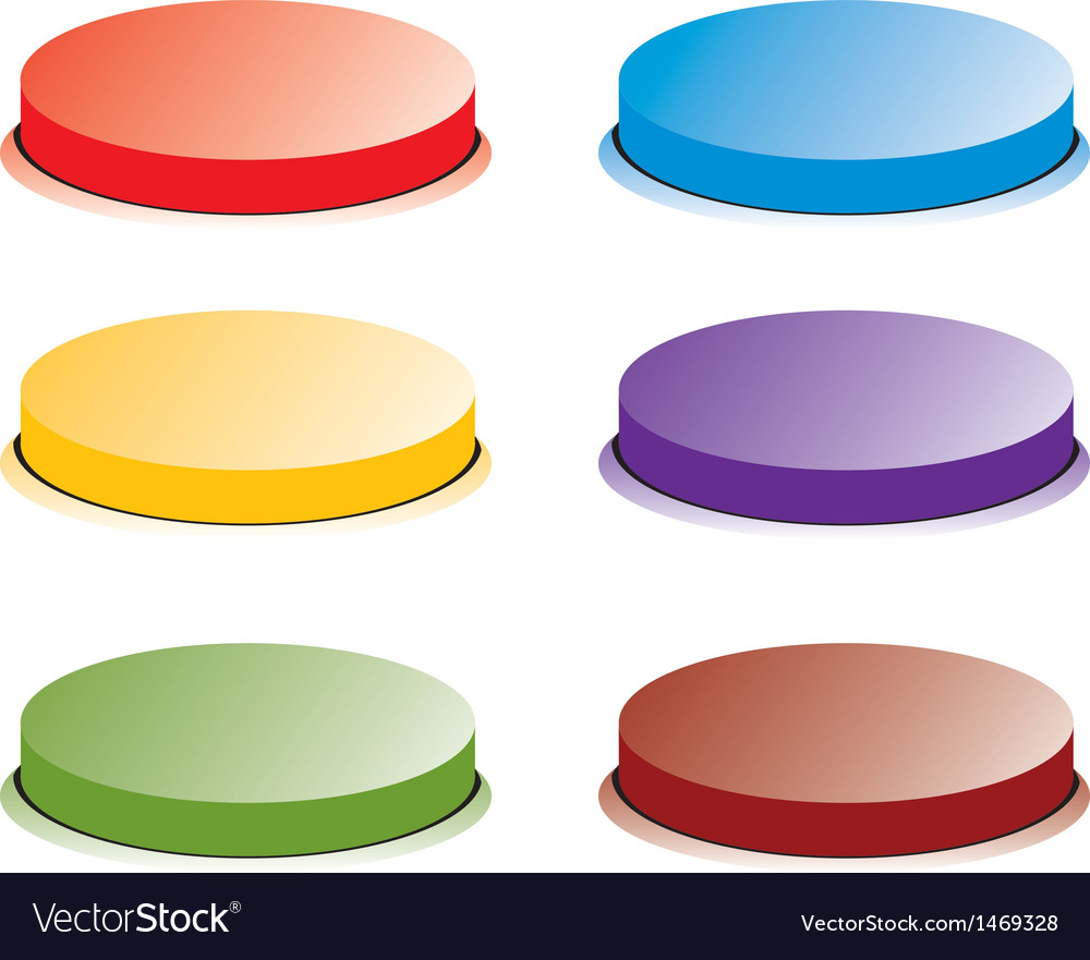 Color button vector | Price: 1 Credit (USD $1)