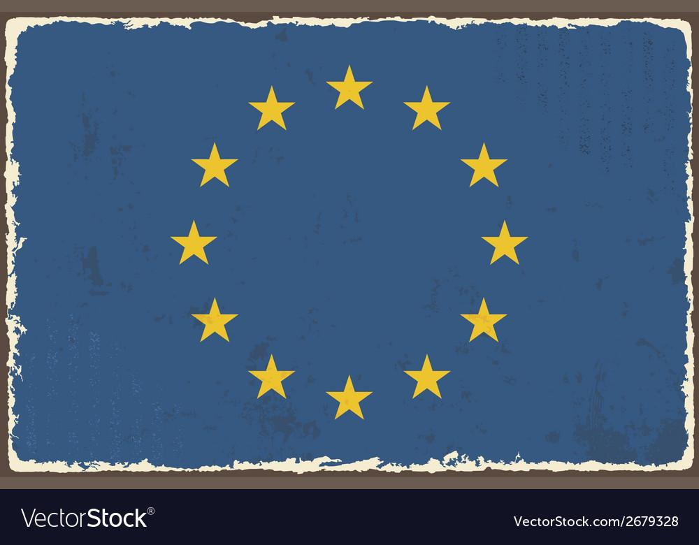 European union grunge flag vector   Price: 1 Credit (USD $1)