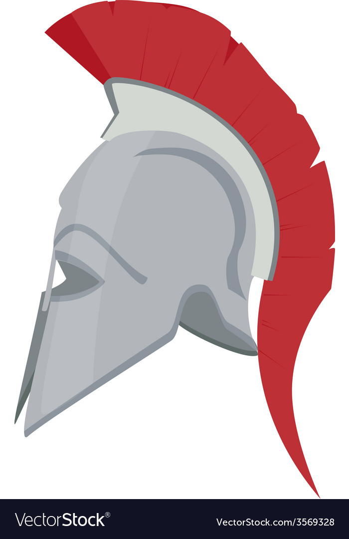 Greek helmet vector | Price: 1 Credit (USD $1)