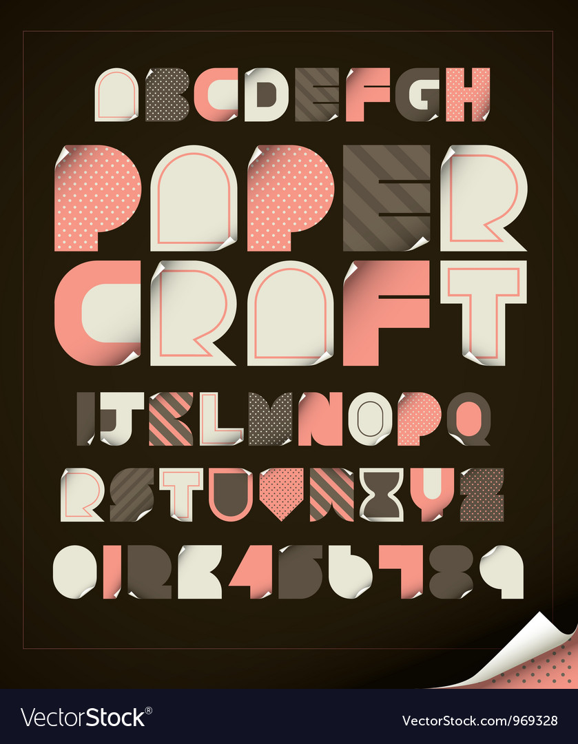 Paper craft vector | Price: 1 Credit (USD $1)