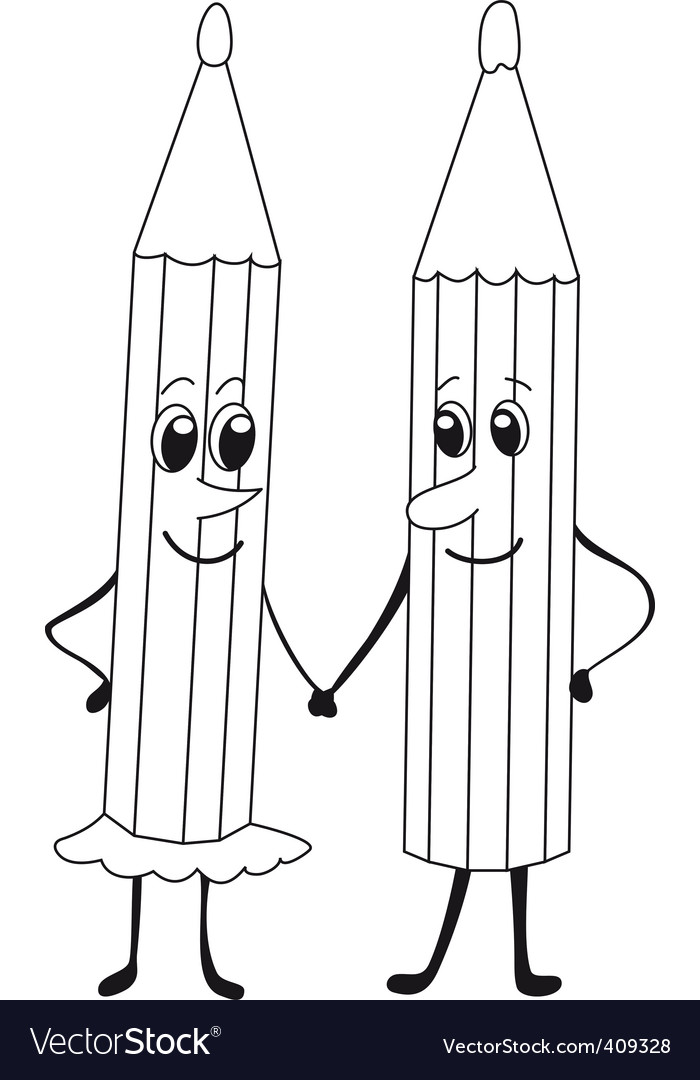Pencils black and white vector | Price: 1 Credit (USD $1)