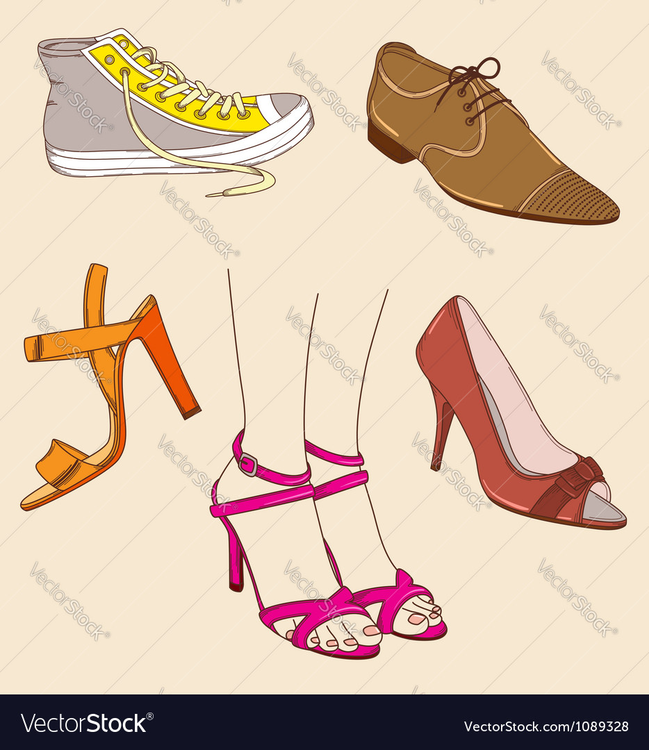 Shoes and legs vector | Price: 3 Credit (USD $3)