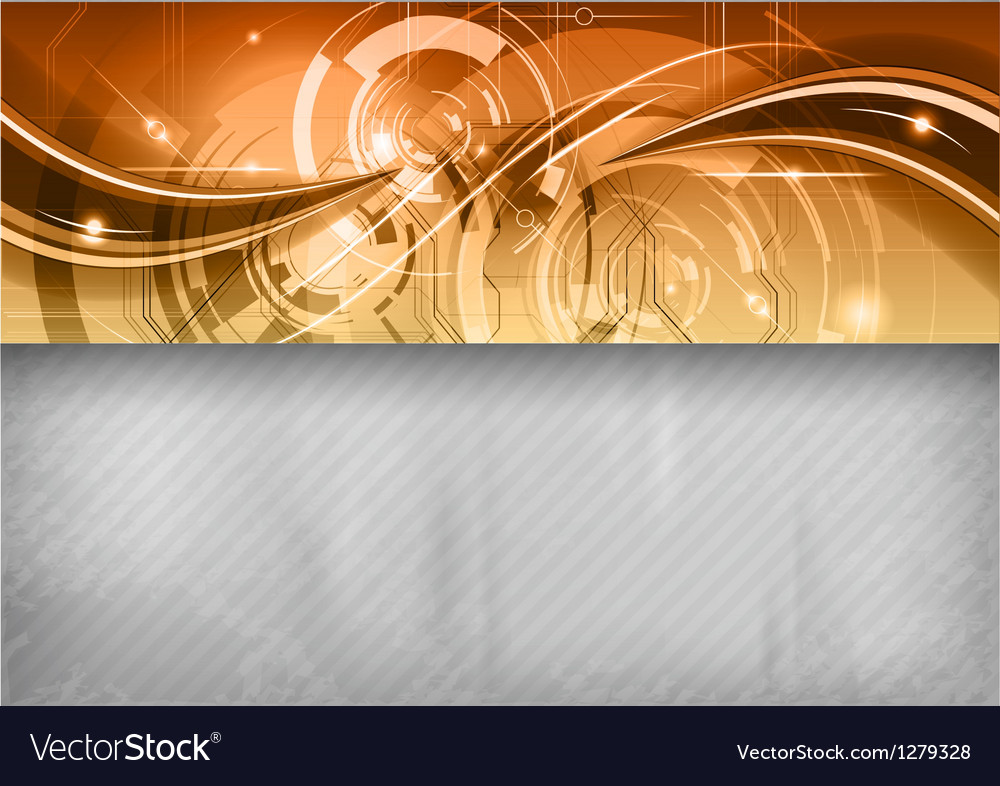 Tech background line top gold vector | Price: 1 Credit (USD $1)